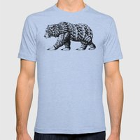 Cali Bear Mens Fitted Tee Tri-Blue SMALL