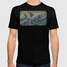 Surf Mens Fitted Tee SMALL Black