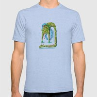 Giraffes Mens Fitted Tee Athletic Blue SMALL