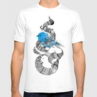 Tweet Your Art. Mens Fitted Tee White SMALL