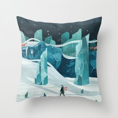 The Wanderer And The Ice… Throw Pillow