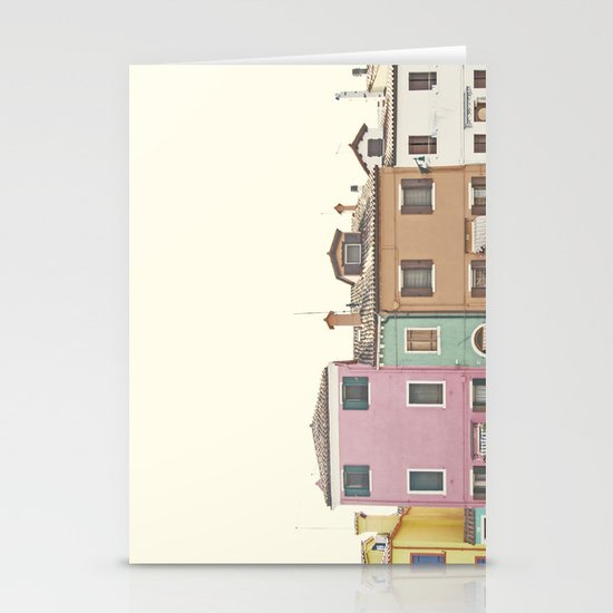 Colored Houses Stationery Card