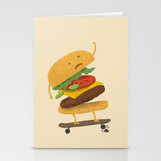 Burger Wipe-out Stationery Card