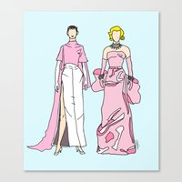 Pretty in PINK it like Audrey and Marilyn Canvas Print