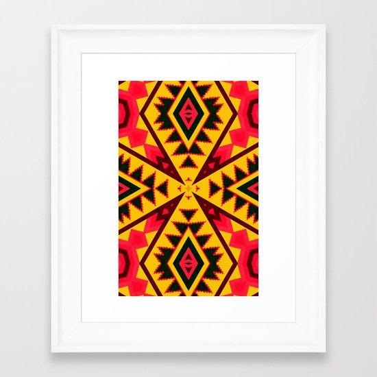 Pasión Azteca Framed Art Print