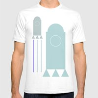 Rakete 1 Mens Fitted Tee White SMALL