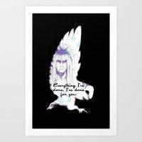 Labyrinth Everything I've Done Owl Art Print