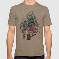 Pipe Dreams Mens Fitted Tee Tri-Coffee SMALL