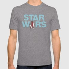 Star Wars 1977 Mens Fitted Tee Tri-Grey SMALL