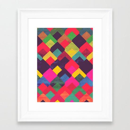 colour + pattern 11 Framed Art Print