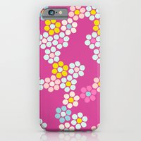 Flower tiles in hot pink iPhone 6 Slim Case