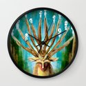 Princess Mononoke The Deer God Shishigami Tra Digital Painting. Wall Clock
