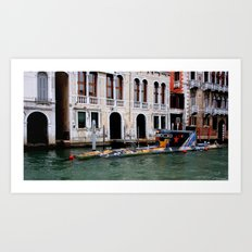 Submarine In The City Art Print