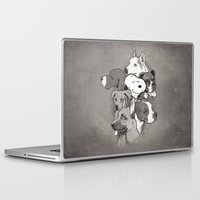 dogs Laptop & iPad Skins featuring Dogs by Ronan Lynam