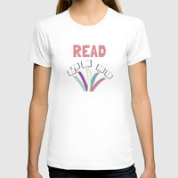 Read a book. Womens Fitted Tee White SMALL