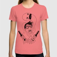 Wasted Womens Fitted Tee Pomegranate SMALL