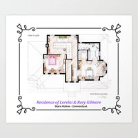 House of Lorelai & Rory Gilmore - First Floor Art Print