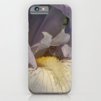 iPhone & iPod Case featuring Pale Purple Iris Close Up 03 by Serenity Photography