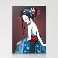 Geisha la blanche Stationery Cards