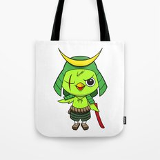 Samurai Bird Tote Bag