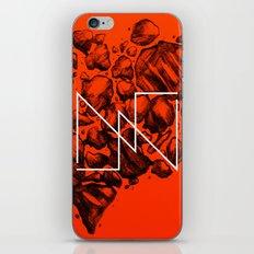 Old School Rocks (Orange Rock Version) iPhone & iPod Skin