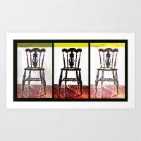 Chair Trio Art Print
