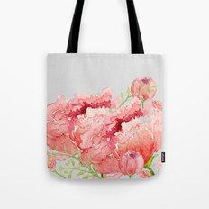Pink peonies in blue jar Tote Bag