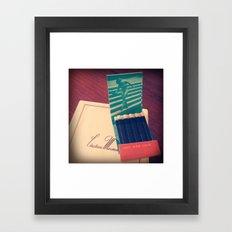 Chateau Marmont Ephemera Framed Art Print