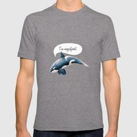 Orcinus Orca Mens Fitted Tee Tri-Grey SMALL