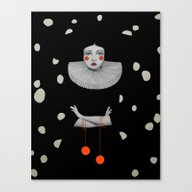 Rodinia In Black Canvas Print
