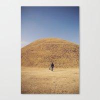 Gyeongju burial ground Canvas Print