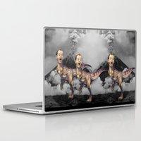 bill murray Laptop & iPad Skins featuring Bill Murray TRex by Kalynn Burke