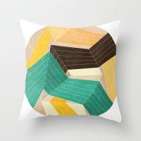 Lines Inside Throw Pillow