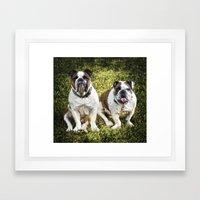 Fred and Ethel Framed Art Print
