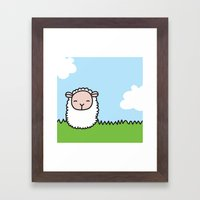 Sleeping Sheep Framed Art Print