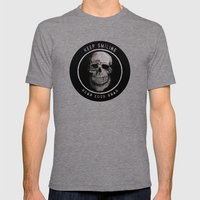 Keep Smiling when your dead II Mens Fitted Tee Tri-Grey SMALL