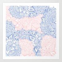 Modern Pink Rose Quartz … Art Print