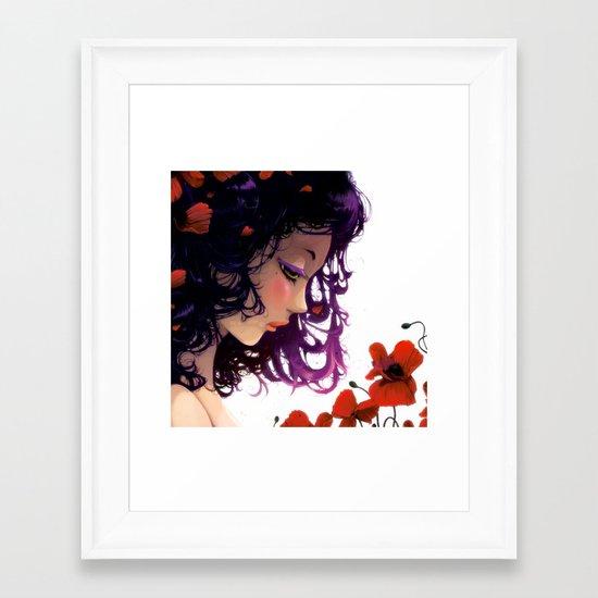 Les fleurs rouges... Framed Art Print