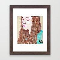 Brittany Portrait Framed Art Print