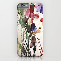 iPhone Cases featuring Colorful Splatter by ElizachickArt