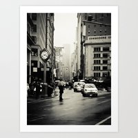 New York City - 5th Avenue in the Rain Art Print