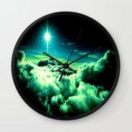 Midnight Clouds Wall Clock