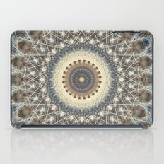 Mandala in white and brown tones iPad Case