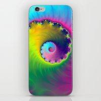 Color Wash Spiral iPhone & iPod Skin