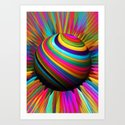 a world of color Art Print