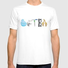 DFTBA White SMALL Mens Fitted Tee