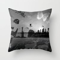 City In Nature Throw Pillow
