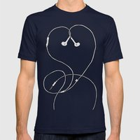 I Don't Know, I Just Love Me Some Music Mens Fitted Tee Navy SMALL