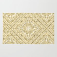 Orient Espresso Pattern Mandala Gold Rug