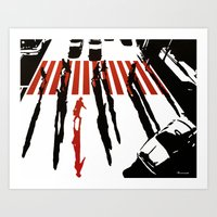 La malette rouge Art Print